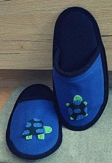 Obuv - Slippers- Blue turtles - 8560907_