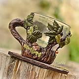Nádoby - Na hubách - šálka na kávu (picollo) - 8561223_