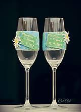 Nádoby - Svadobné poháre s menami - plesnivec alpínsky (2 ks) - 8561242_