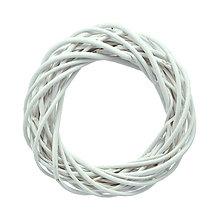 Polotovary - Prútený veniec biely 30cm - 8563955_