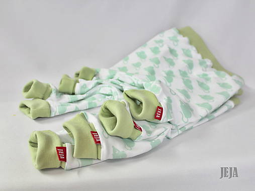 Detské oblečenie - Úpletové nohavice s myškami - 8564452_