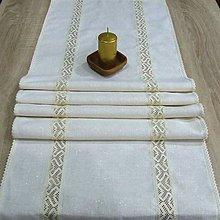 Úžitkový textil - Zlatom pretkávaný - stredový obrus 146x43 - 8561205_