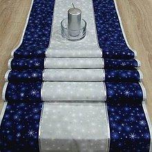 Úžitkový textil - Mrazivá noc - stredový obrus 155x41 - 8563233_