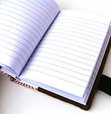 Papiernictvo - Vyšívaný zápisník Okrový kruh s lúčnym kvetom - A6 - 8561274_