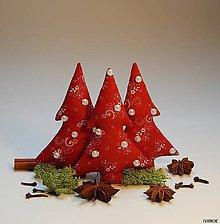 Dekorácie - Vianočné ozdôbky - červeno biele - 8562678_