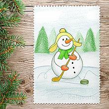 Kresby - ☃ Snehuliak vianočný obrázok - hokej - 8560817_