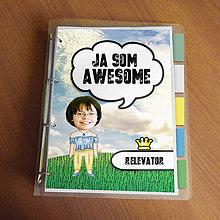 """Papiernictvo - Ja som awesome ,,všetkozošit"""" (lúka - slobodná) - 8562567_"""