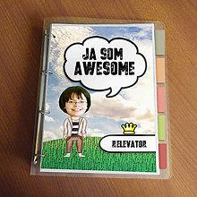"""Papiernictvo - Ja som awesome ,,všetkozošit"""" (lúka - pohodová) - 8562581_"""