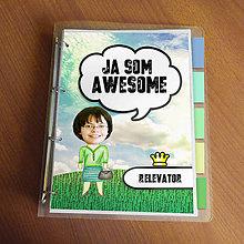 """Papiernictvo - Ja som awesome ,,všetkozošit"""" (lúka - do práce?) - 8563495_"""