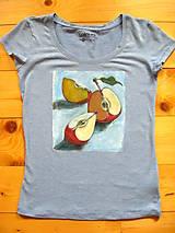 Tričká - Jabĺčkové modré tričko - 8567663_