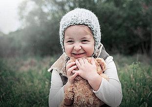 Detské čiapky - Jesenno - zimný čepček VLNENÝ - 8568805_