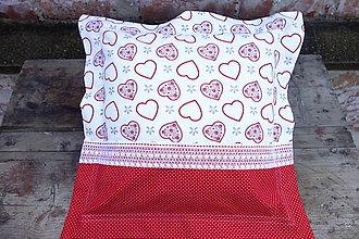 Úžitkový textil - Vianočná obliečka na vankúš - 8567515_