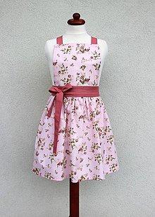 Detské oblečenie - zásterka mini ružička - 8566809_