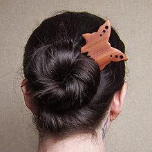 Ozdoby do vlasov - Drevená ihlica do vlasov - 8566400_