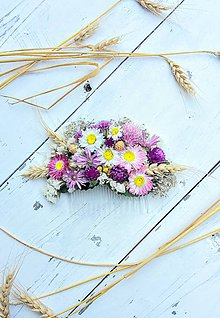Ozdoby do vlasov - Hrebienok zo sušených rastlín - 8566986_