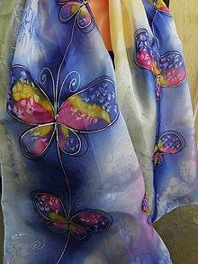 Šatky - motýle - 8565948_