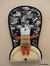 Textil - Bugaboo Seat Liner Camouflage Black ARMY by Diesel Denim/ Podložka do kočíka MASKÁČ na mieru - 8564855_
