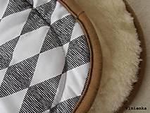Textil - Bugaboo Seat Liner Graphic Grace fabric/ Podložka do kočíka Bugaboo/ Joolz SCANDI graphic grace black and white - 8565020_