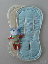 Textil - BUGABOO / JOOLZ Podložka do kočiarika MENTOLOVÁ TRIANGEL & MINT - 8565552_