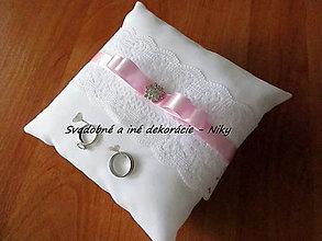 Prstene - Vankúšik pod obrúčky (Ružová (pastelová)) - 8567460_