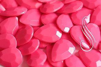 Komponenty - KAB akryl neon pink drop 10x14 mm / ks - 8568314_