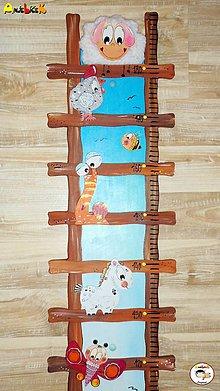 Detské doplnky - Meter na stenu -rebrík - 8568246_