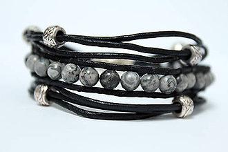 Šperky - Náramok čierny povrázkový pánsky - 8568599_