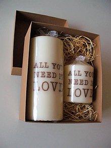 Svietidlá a sviečky - all you need is love - 8567201_