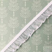 Galantéria - ozdobná bielizňová guma s volánikom, šírka 18 mm, cena za 1 m - 8564805_