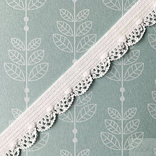Galantéria - ozdobná vlnkovaná bielizňová guma, šírka 14 mm, cena za 1 m - 8564815_