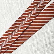 Galantéria - červený pruhovaný šikmý prúžok, 100 % bavlna, šírka 20 mm, cena za 1 m - 8564942_