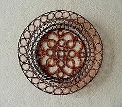 Dekorácie - Medená drôtená miska - 8565754_