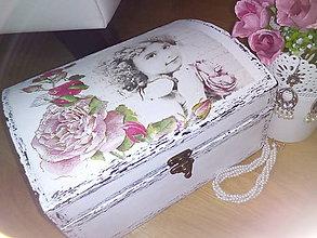 Krabičky - Dievčenská šperkovnica Šípová Ruženka - 8567344_