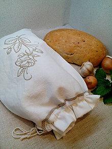 Úžitkový textil - Vrecko z ľanového ručne tkaného plátna - 8568704_