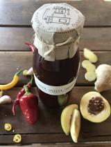 Potraviny - Sladká chilli omáčka s broskyňami, cesnakom a zázvorom - 8566786_