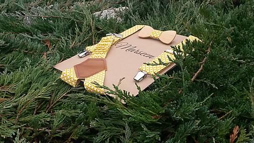Detský set - drevený motýlik a traky