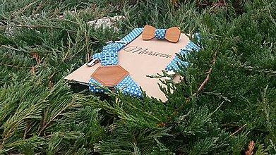 Detské doplnky - Detský set - drevený motýlik a traky - 8565769_