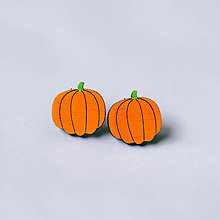 Náušnice - halloweenske tekvičky - napichovačky - 8568356_