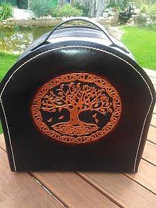 Batohy - Kožený ruksak Strom života - 8565763_