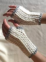 Háčkované rukavičky bez prstov