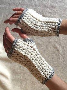Rukavice - Háčkované rukavičky bez prstov - 8566042_