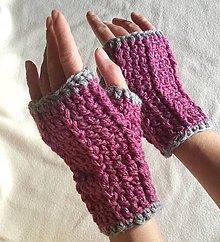 Rukavice - Háčkované rukavice - 8567193_