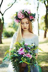 Ozdoby do vlasov - Láska - Kvetinový svadobný set - 8565851_