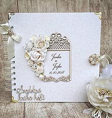 Papiernictvo - Svadobná kniha hostí - 8566424_