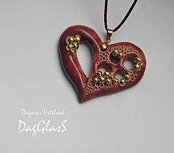 Náhrdelníky - keramický šperk ...Zlato a purpur pre kráľovnú... - 8567689_