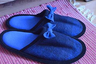 Obuv - Blue Bows- slippers - 8567168_