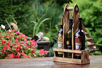 Iné - Drevený nosič na víno - 8568762_