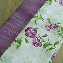 Úžitkový textil - Fialové kvety - podsedáky na objednávku - 8564879_