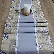 Úžitkový textil - Pastelovo romantické - stredový obrus 153x40 - 8566633_