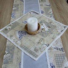 Úžitkový textil - Pastelovo romantické -obrus štvorec 42x42 - 8566797_